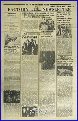 GRATEFUL DEAD Alice Cooper VELVET UNDERGROUND Janis Joplin 1969 Concert Poster