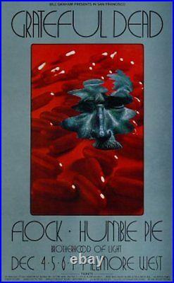 GRATEFUL DEAD BG 205-2 FILLMORE concert poster 1969 DAVID SINGER BILL GRAHAM