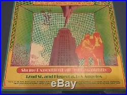 Grateful Dead Buffalo 1967 Pinnacle Electric Wonders Poster Vg 13 Staplehole Htf