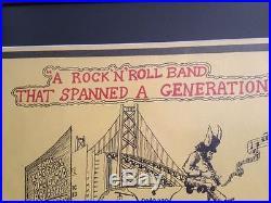 GRATEFUL DEAD Concert Poster 1973 ORIGINAL Jerry Garcia Harvey Weinstein