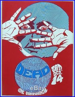 GRATEFUL DEAD Concert Poster Continental Ballroom, Santa Clara, 1967
