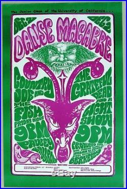 GRATEFUL DEAD, Country Joe, Concert Poster Pauley Ballroom, Berkeley, 1966