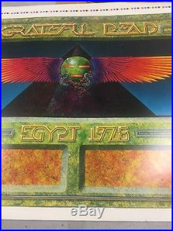 GRATEFUL DEAD EGYPT 1978 CONCERT TOUR POSTER Wings By Pyramid Color Check