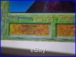 GRATEFUL DEAD EGYPTIAN CONCERT POSTER-vintage in Egyptian-1978 1ST PTG