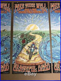 GRATEFUL DEAD FARE THEE WELL TOUR CHICAGO IL SOLDIER FIELD 12x24 Set Of 3