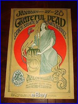 GRATEFUL DEAD FD-45 Avalon Ballroom SF Family Dog 1967 POSTER NEAR MINT