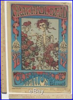 GRATEFUL DEAD FD26-OP-1 Skeleton Roses 1st Print Poster & Handbill Lot AOR BG