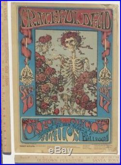 GRATEFUL DEAD FD26-OP-1 Skeleton Roses Original 1st Print Poster Rare CGC AOR BG