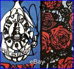 GRATEFUL DEAD FD26 Skeleton Roses Band Signed Rock Concert Poster Garcia AOR BG