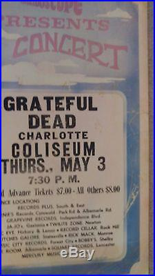 Grateful Dead Hells Boxing Style Rare Hippie Concert Poster