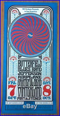 GRATEFUL DEAD JEFFERSON AIRPLANE BG-30 1966 Winterland Concert Poster 1st Print