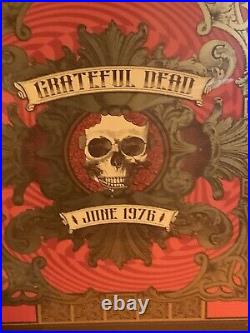 GRATEFUL DEAD June 1976 Limited Edition Poster #377/500 Made New Sealed Rare