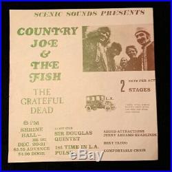 GRATEFUL DEAD Los Angeles Handbill 1967 Poster SHRINE HALL BG FD Rare Original