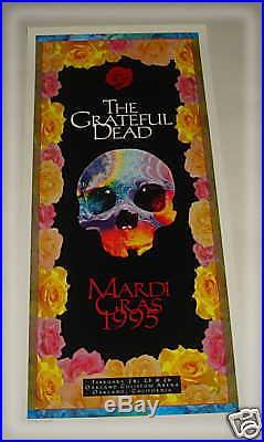 GRATEFUL DEAD- Mardi Gras 1995 CONCERT POSTER