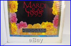 GRATEFUL DEAD Mardi Gras 1995 Concert Poster with Certificate of Authenticity