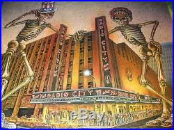 GRATEFUL DEAD NEW YORK RADIO CITY MUSIC HALL OCT. 22-31,1980 CONCERT POSTER-RARE