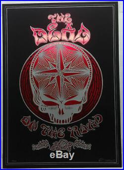 GRATEFUL DEAD On The Road Ltd. Ed. EMEK Poster Laser-Cut Coil #55/200