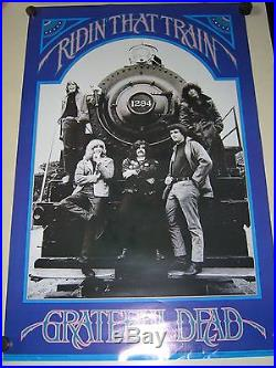 GRATEFUL DEAD / Orig. Vintage poster #p7004 / Riding that Train / Exc. +new cond