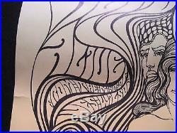 GRATEFUL DEAD POSTER Original 1967 Fillmore Aud, Wes Wilson BG-62, the Paupers