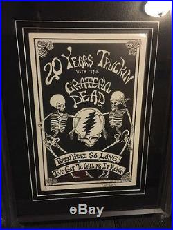 GRATEFUL DEAD RARE FIRST PRINTING CONCERT POSTER Art Framed Numbered Collection