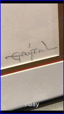 GRATEFUL DEAD RICK GRIFFIN AUTOGRAPH SERIGRAPH 126 of 500