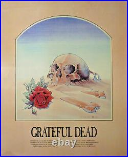 GRATEFUL DEAD STANLEY MOUSE SKULL & ROSE POSTER FROM EARLY 80's