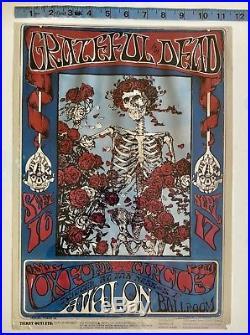 GRATEFUL DEAD Skeleton & Roses FD 26 Poster Family Dog 1966 No Reserve