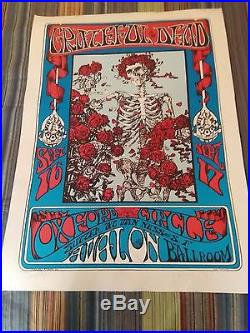 Gratefull Dead Poster Signed By Stanley Mouse & Alton Kelly