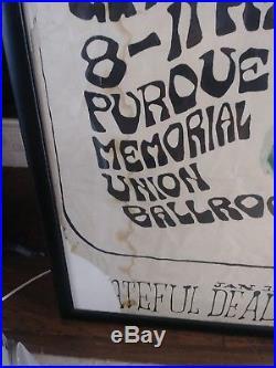 Giant Vintage Grateful Dead Framed Poster