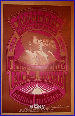 Grande Ballroom Grimshaw signed poster BG, FD, AOR, Grateful Dead