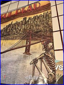 Grateful DEAD ORIGINAL 1981 DEAD SET SAN FRANCISCO Poster 1st Print