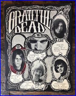 Grateful Dead 1966-67 Bio Sheet Original Poster bgp