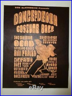 Grateful Dead 1966 DANCE OF DEATH AOR 2.143 Original Cal Hall Handbill