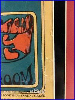 Grateful Dead 1966 Original Avalon Ballroom Family Dog Poster September 16 & 17