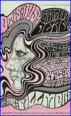 Grateful Dead 1967 Fillmore Concert Poster