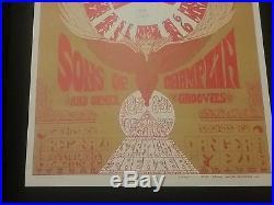 Grateful Dead 1967 Straight Theater Poster Dance Nmint Small Tear Rare Vtg Htf
