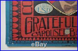 Grateful Dead 1968 BE MINE Carousel Poster AOR 2.174
