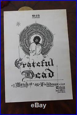 Grateful Dead 1971 U of Wisconsin Fieldhouse Original Concert Poster NONE RARER