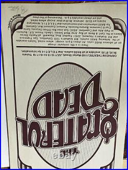 Grateful Dead 1976 signed poster mint condition