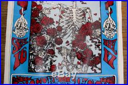 Grateful Dead 1977 Avalon Ballroom San Francisco Kelley/Mouse poster distress