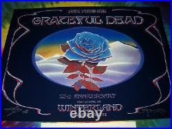 Grateful Dead 1978 New Year Eve Winterland Blue Rose Mouse/kelley Concert Poster