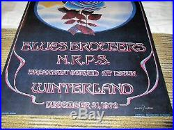 Grateful Dead 1978 Winterland New Years Eve Concert Poster Blues Brothers NRPS