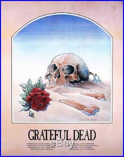 Grateful Dead 1981 European Original Tour Poster Stanley Mouse Lithograph