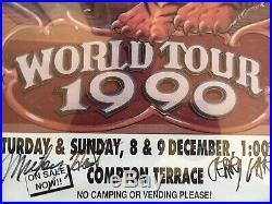 Grateful Dead 1990 World Tour Signed Poster