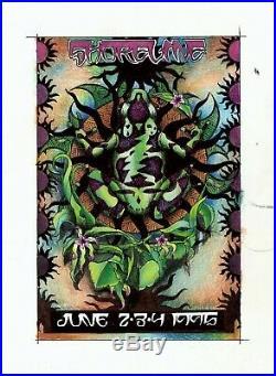 Grateful Dead 1995 Mountain View Shoreline Jr. Everett ORIGINAL ARTWORK