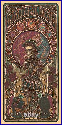 Grateful Dead 2 GD2 Variant Jack Straw Luke Martin SIGNED AP Print Poster x/60