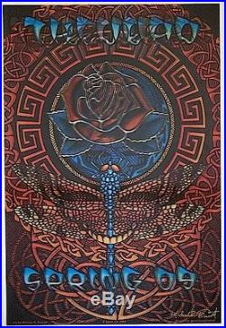 Grateful Dead 2009 SIGNED Spring Tour 3-D Lenticular Everett Poster