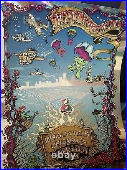 Grateful Dead 2017 Wrigley Field Poster. Limited Edition