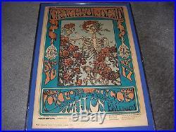 Grateful Dead #26 Poster 1966 Skeleton & Roses 3rd Print Signed Kelley & Mouse