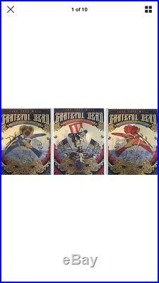 Grateful Dead 50 Fare Thee Well Emek and Helton VIP poster Set
